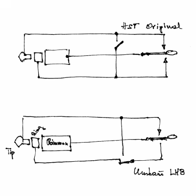 Original vs. desired wiring of the Begali HST